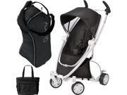 Quinny CV262BIK Zapp Xtra with diaper bag and Travel Bag- Black  Irony  white frame
