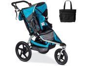 BOB - Revolution FLEX Stroller with Bag - Lagoon Silver