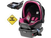 Peg Perego - Primo Viaggio 4-35 Car Seat w  Extra Base and Baby on Board Sign - Fucsia