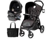 Peg Perego - Book Stroller Travel System with a Diaper Bag - Nero Reflect  Onyx