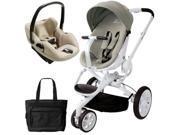 Quinny CV078BFV Moodd Prezi Travel system with Diaper bag and car seat - Natural Bright