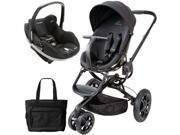 Quinny CV078BFO Moodd Prezi Travel system with Diaper bag and car seat - Black Devotion