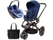 Quinny CV078BFP Moodd Prezi Travel system with Diaper bag and car seat - Blue Reliance