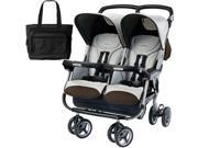 Peg Perego Aria Twin 60 40 with a  Diaper Bag  - Java