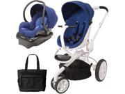 Quinny CV078BXQ Moodd Stroller Travel system with diaper bag and car seat - Blue Defiance