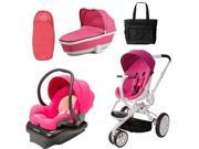 Quinny CV078BFU Moodd Stroller Complete Collection in Pink Passion