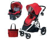 Britax U281771KIT6  B-Ready Stroller and B-Safe Infant Carrier with Diaper Bag - Red