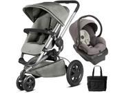 Quinny - Buzz Xtra Travel System with Bag - Gravel Grey
