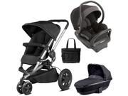 Quinny - Buzz Xtra MAX Travel System with Bassinet and Bag - Black