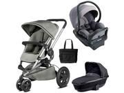 Quinny - Buzz Xtra MAX Travel System with Bassinet and Bag - Gravel Grey