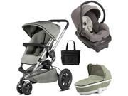 Quinny - Buzz Xtra Travel System with Bassinet and Bag - Natural Grey