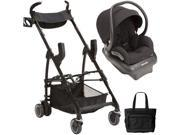 Maxi-Cosi - Mico AP Infant Car Seat with Maxi Taxi Car Seat Carrier and Bag - Devoted Black