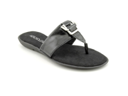 Aerosoles Savvy Womens Size 8.5 Black Sandals Thongs Flip Flops Sandals Shoes