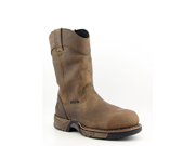 """Rocky 6639 11"""" Pull-on Aztec Boots Work Steel Toe Work Boots Brown Mens"""