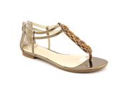 Enzo Angiolini Trillium Womens Size 9.5 Bronze Open Toe Gladiator Sandals Shoes
