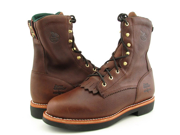 """Georgia G7014 8"""" Lacer Mens Size 10.5 Brown Boots Work Leather Work Boots"""