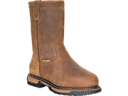ROCKY 6468 IronClad Pull-On Brown Boots Shoes Mens 9.5