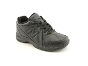 New Balance KX624 Youth Boys Size 12.5 Black Wide Leather Sneakers Shoes