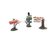 Haunted Signs | Department 56 Halloween Signs (Set of 3) (4025400)