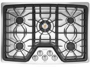 """30"""" Gas Cooktop with 5 Sealed Burners, Cast Iron Continuous Grates, Low Simmer Burner, PowerPlus Full Range Burner and Pro-Select Controls"""