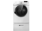 "27"" Electric Dryer with 7.4 cu. ft. Capacity, 13 Drying Cycles, 9 Options, Sanitization Cycle, Steam Dry, Sensor Dry, Delay Start and Child Lock: Neat White"