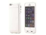 iPhone 5 External Rechargeable 2500mAh Battery Hard Shell Case (White)