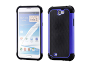 2 Piece Blue Black Hybrid Rugged Hard PC Soft Silicone Back Case Cover for Samsung Galaxy Note II N7100