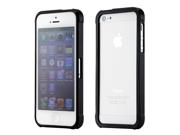 Black Aluminum Metal Snap-On Slide-On Frame Bumper Cover Case For iPhone 5 5S
