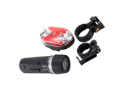 Ultra Bright Waterproof 5 LED Bike Head Light + 9 LED Rear Flashlight for Biking Bicycle