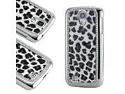 Black White Leopard Bling Hard PC Back Cover Slim Case for Samsung Galaxy S4 i9500