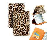 GEARONIC ™ Bling Leopard Case Folio Leather Smart Magnetic Cover Stand Clip and Credit Card Slots for Apple iPad Mini 2 with Retina Display - Yellow Leopard