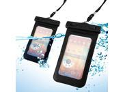 GEARONIC TM Black Waterproof Pouch Dry Bag Protector Skin Case Cover w/ Arm Band for iPhone 5 5S Galaxy S4 S5 Note 2 3