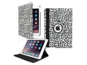 GEARONIC TM 2014 Apple iPad Air 2 360 Degree Rotating Stand Smart Cover PU Leather Swivel Case - Black Leopard