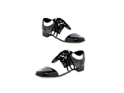 Men's White and Black Oxford Shoes