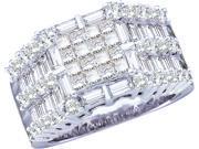 2.00CTW DIAMOND LADIES RING WITH SQUARE PRINCESS CENTER