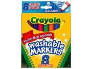 Crayola Washable Bold Broad Markers - 8 Count