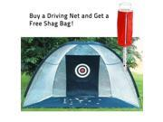 Oversized Driving Net with Free Golf Ball Shag Bag Bundle