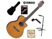 Yamaha NTX700C Cedar Top Classical Thinline Acoustic-Electric Guitar Bundle