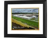 Jorge Velasquez signed Preakness Stakes Winners Pimlico Race Course Horse Racing 16x20 Photo Custom Framed w/ 6 Sig