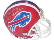 Marv Levy signed Buffalo Bills Replica TB Mini Helmet 4X AFC Champs silver sig