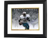 Earl Campbell signed Houston Oilers/Texas Longhorns 16X20 Photo Custom Framed Career Collage (Heisman/HOF)
