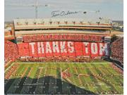 Tom Osborne signed Nebraska Cornhuskers 16x20 Photo Farewell Stadium (3X National Champ)