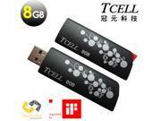TCELL Hide & Seek (Black) USB2.0 8GB Flash Drive