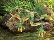 Folkmanis Puppets LEOPARD FROG Plush Hand Puppet