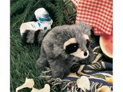 "Plush Baby Raccoon Puppet 10"""