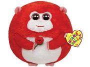 Ty Beanie Ballz In Love Monkey with Rose Plush