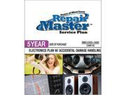 Repair Master RMELEAD5 5000 Repair master 5-yr date of purchase electronics plan with accidental damage from handling - under $