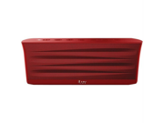 Iluv ISP233RED Iluv isp233red mobiout rechargeable stereo bluetooth(r) speaker with jump-start technology (red)