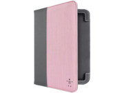"""Belkin F8N885TTC03 Belkin f8n885ttc03 7"""" kindle(r) fire hd chambray cover with stand (gravel/pink)"""