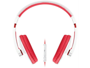 Merkury M-HM705 Merkury m-hm705 urban beatz large headphones with microphone (white & red)